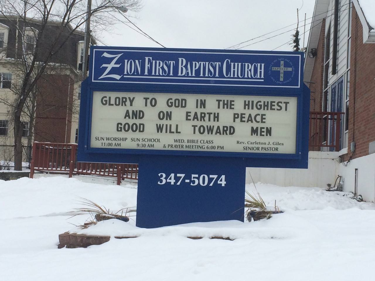 Zion First Baptist Church Food Pantry