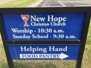 Helping Hands Food Pantry, New Hope Christian Church