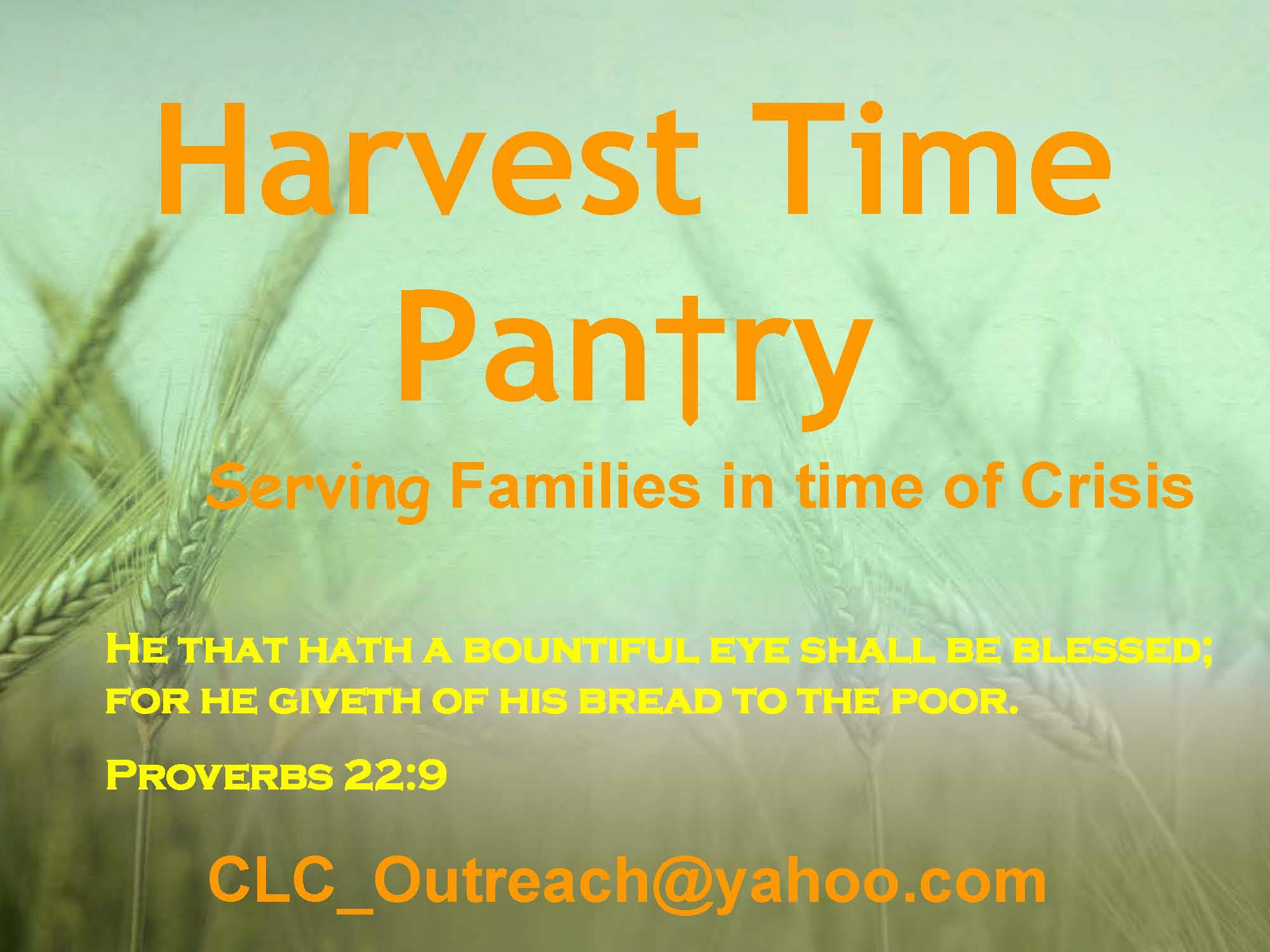 Christian Life Center of Centerton  Harvest Time Food Pantry