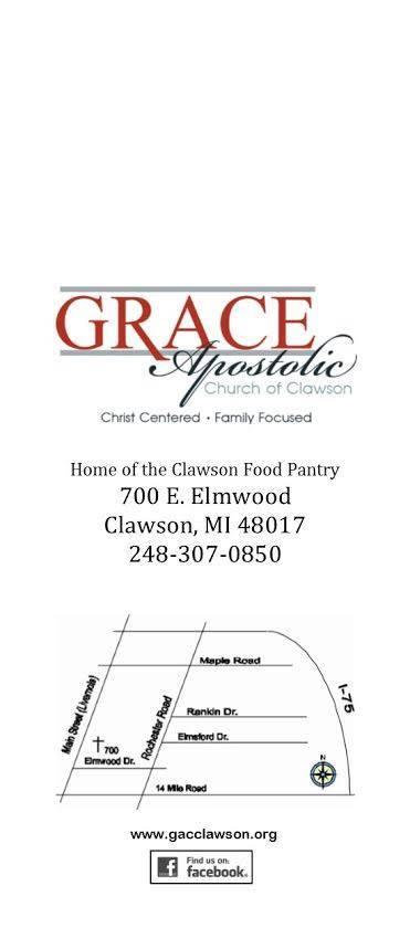 Clawson Food Pantry - Grace Apostolic Church - FoodPantries org