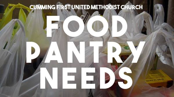 Cumming First United Methodist Church Food Pantry
