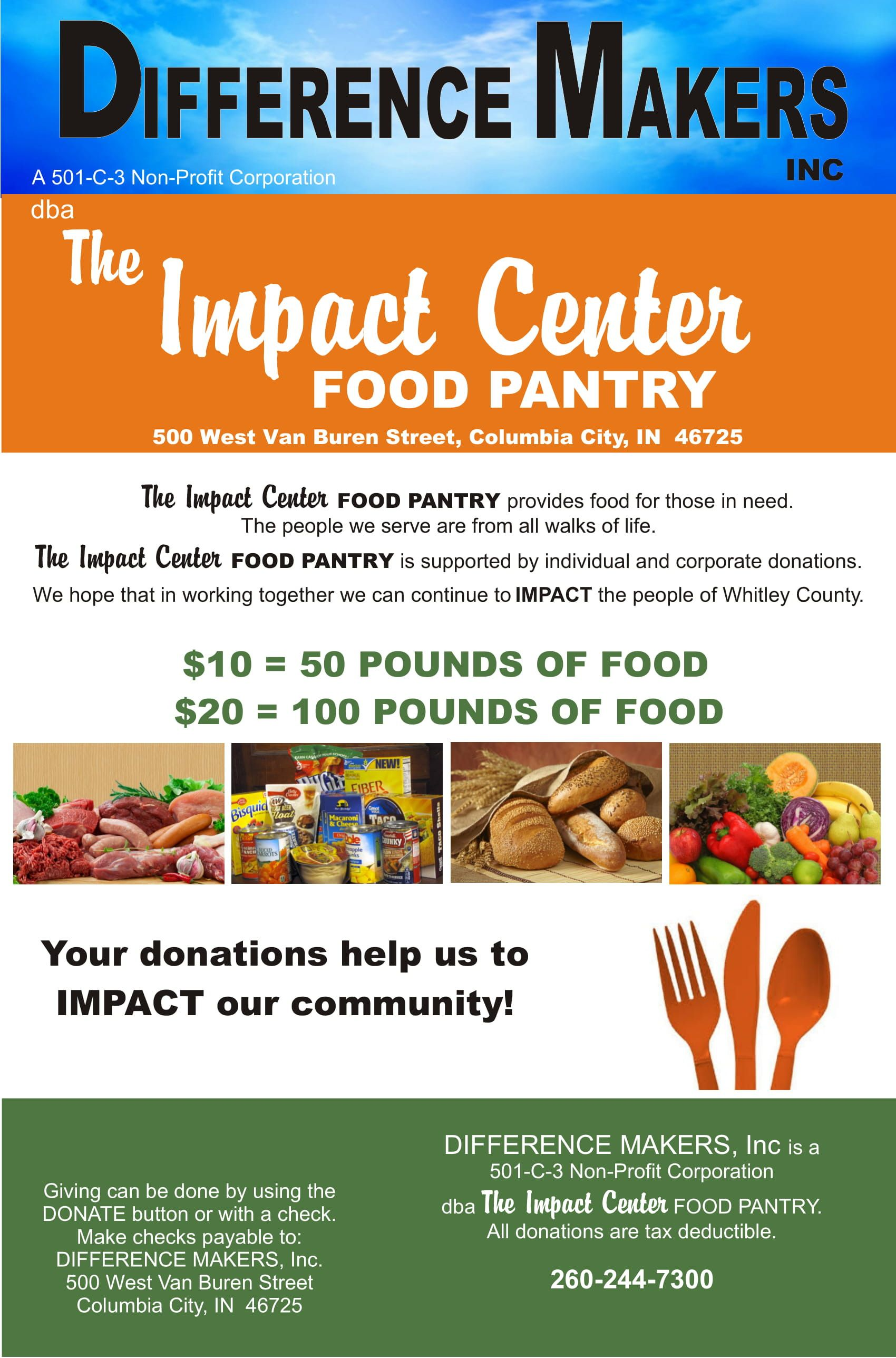 Difference Makers, INC dba The Impact Center Food Pantry