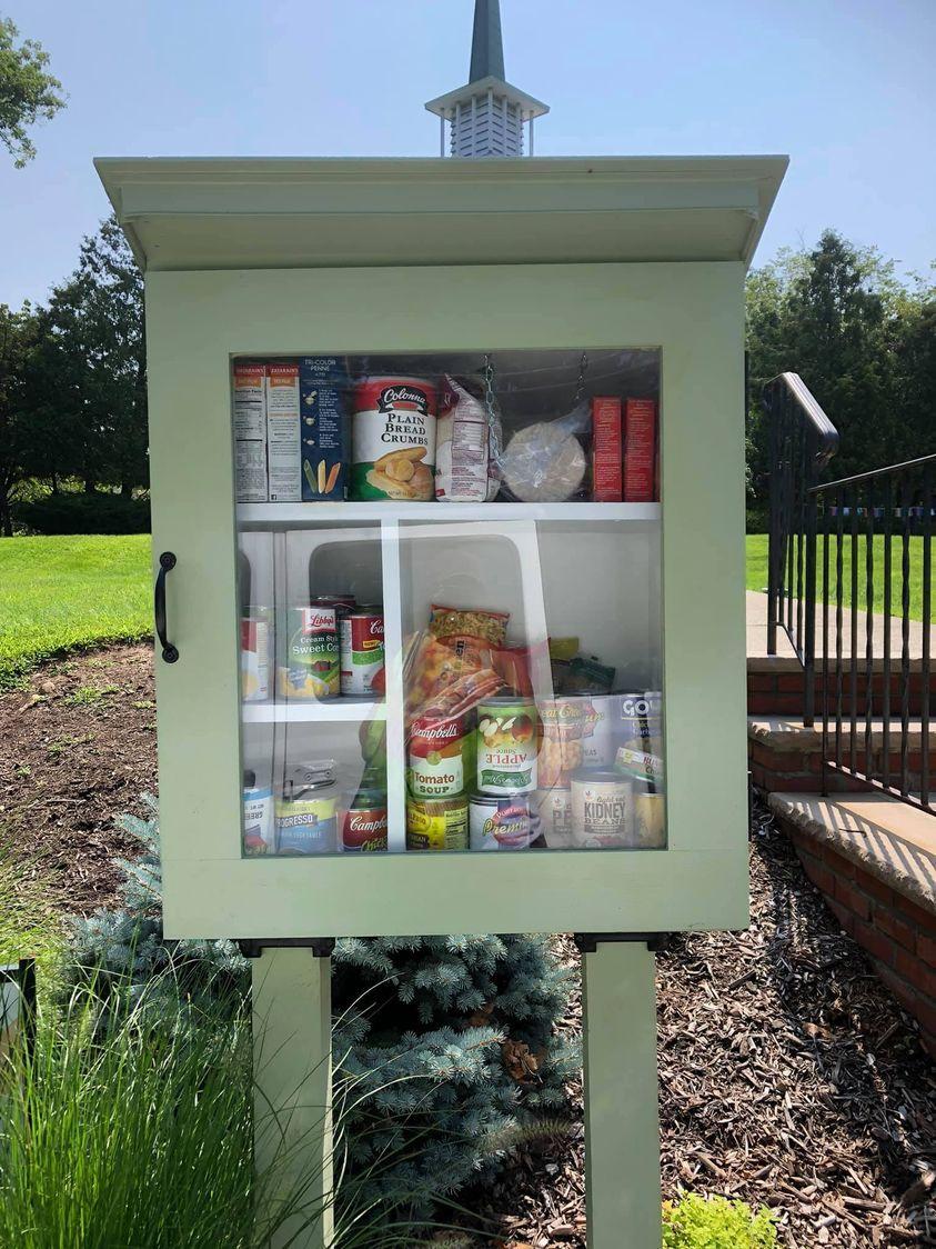 Little Free Food Pantry Kiosk at Community Church
